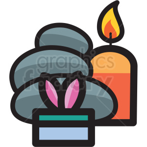 massage hot stones with candles vector icon clipart clipart. Royalty-free image # 409604
