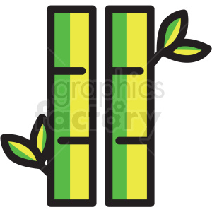 bamboo vector icon clipart clipart. Royalty-free image # 409609
