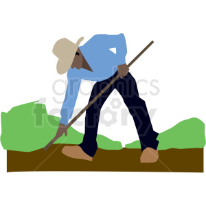black man landscaper vector clipart clipart. Commercial use image # 409669