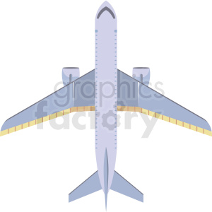 top view airplane image clipart. Commercial use image # 409706