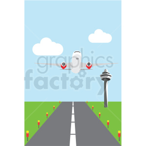 airplane taking off for flight clipart. Royalty-free image # 409719