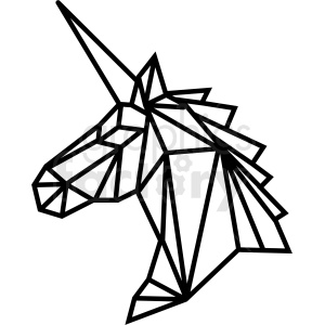 geometric unicorn vector art clipart. Commercial use image # 409740