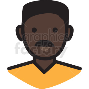 black dad avatar vector clipart clipart. Royalty-free image # 409759