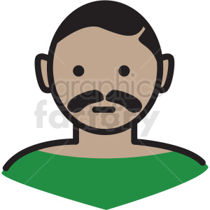hispanic man avatar vector clipart clipart. Royalty-free image # 409769