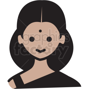 indian girl avatar vector clipart clipart. Royalty-free image # 409774