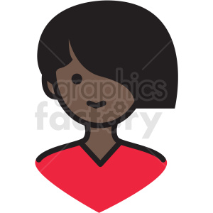 black female avatar vector clipart