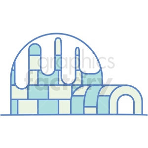 igloo icon clipart. Commercial use image # 409785