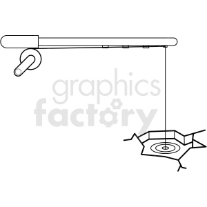 black and white ice fishing icon clipart. Royalty-free image # 409804