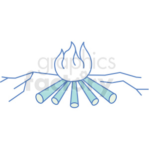 camp fire icon clipart. Royalty-free image # 409811