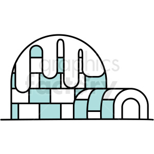 frozen igloo icon clipart. Royalty-free icon # 409819