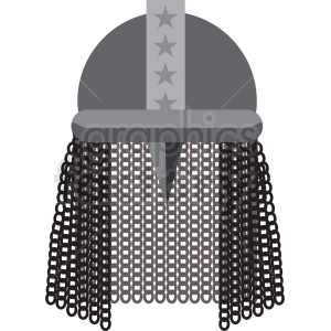 chainmail helmet game armor vector icon clipart clipart. Royalty-free image # 409833