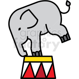 circus elephant icon clipart. Royalty-free image # 409899