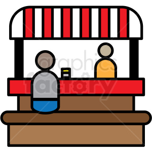food booth icon clipart. Royalty-free image # 409930