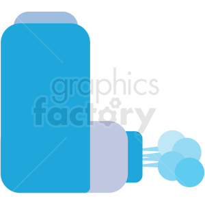 cartoon asthma inhaler device vector icon clipart. Royalty-free image # 410092