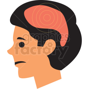 boy with headache vector icon clipart. Commercial use image # 410109