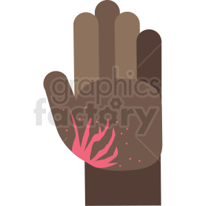 african american burned cartoon hand vector icon clipart. Royalty-free image # 410131