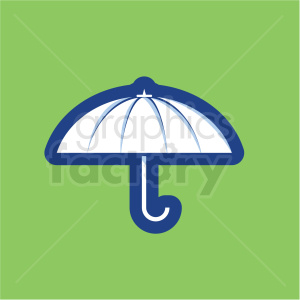 umbrella vector icon on green background clipart. Commercial use image # 410181