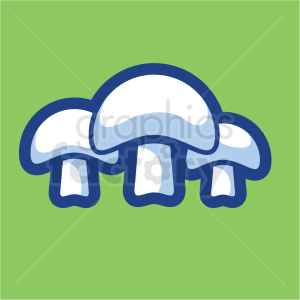 mushroom vector icon on green background clipart. Commercial use image # 410184