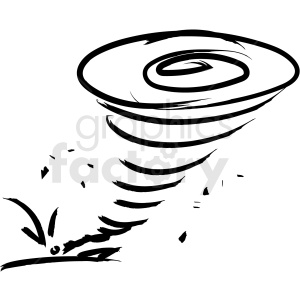 tornado drawing vector icon clipart. Royalty-free image # 410201