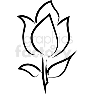 flower drawing vector icon