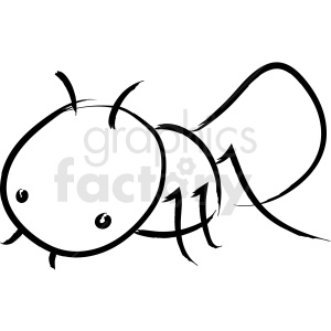 ant drawing vector icon clipart. Royalty-free image # 410243