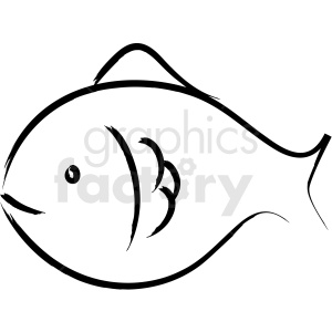 fish drawing vector icon clipart. Royalty-free image # 410252