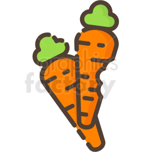 carrots vector icon clipart. Royalty-free icon # 410259