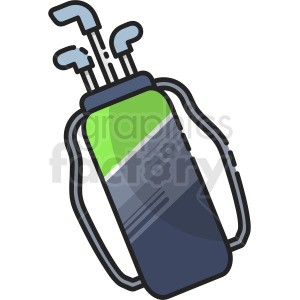 golf bag vector clipart clipart. Royalty-free icon # 410262