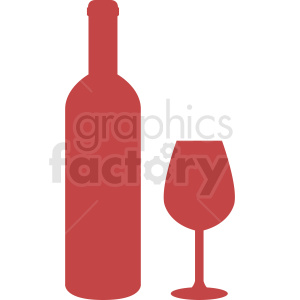 bottle of wine silhouette clipart clipart. Royalty-free image # 410284