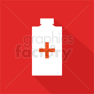 medication bottle red background