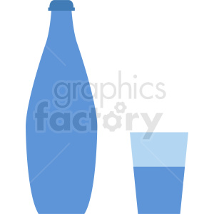 water bottle and cup vector clipart clipart. Royalty-free image # 410290
