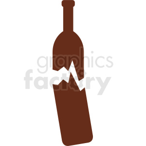 cracked wine bottle vector no background clipart. Commercial use image # 410324