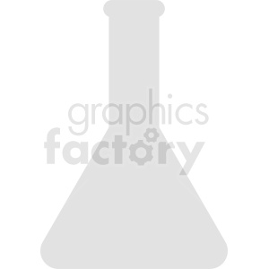 science beaker silhouette no background