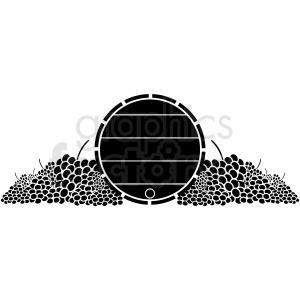 barrel wine grapes winery black+white