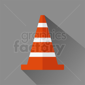 construction zone cone vector clipart square background clipart. Royalty-free image # 410350