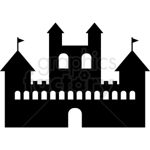castle silhouette design vector clipart clipart. Commercial use image # 410385