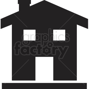 residential house silhouette vector clipart clipart. Commercial use image # 410434
