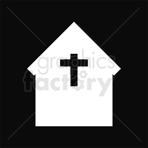 church building black square background clipart. Royalty-free image # 410440