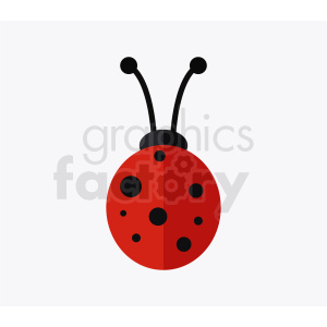 vector lady bug clipart clipart. Commercial use image # 410485