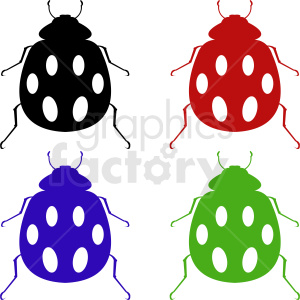 vector beetle clipart set 002 clipart. Royalty-free image # 410487