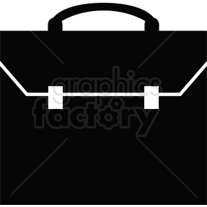vector briefcase black white design clipart. Royalty-free image # 410504