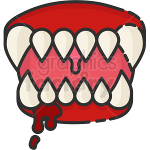 monster fangs clipart. Commercial use image # 410516