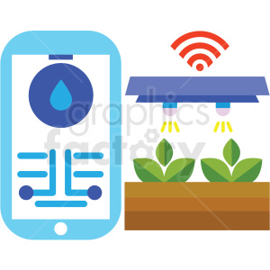 agriculture wireless mobile climate control system vector icon