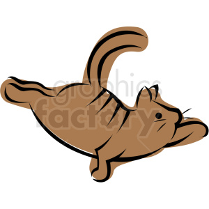 cartoon cat doing yoga balancing on paw vector clipart. Royalty-free image # 410634