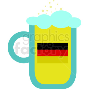 Oktoberfest beer mug cartoon clipart. Royalty-free image # 410715