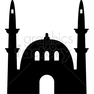 mosque vector clipart. Royalty-free image # 410746