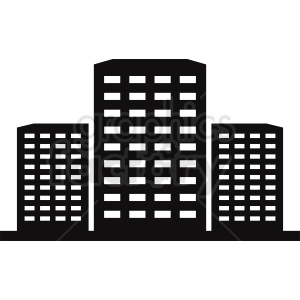 city office building vector clipart