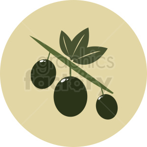 olives icon on circle background clipart. Royalty-free image # 410792