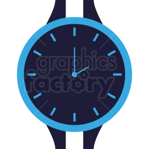 blue wrist watch face vector clipart clipart. Commercial use image # 410812