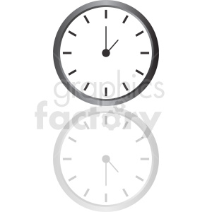 vector clock clipart with gradient fill clipart. Royalty-free image # 410822